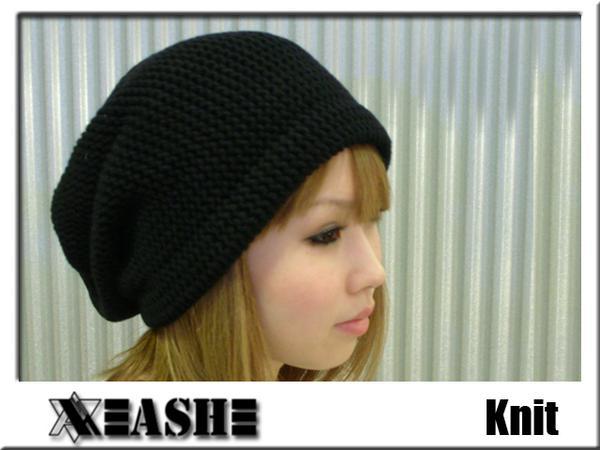帽子 ニット ザク編み ベレー帽 ...