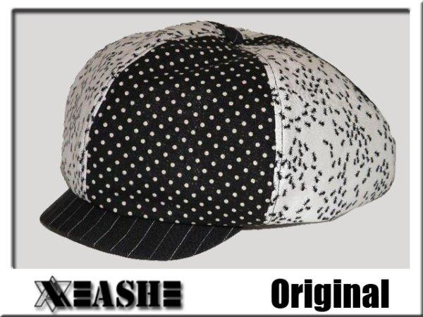 画像1: 【簡単】帽子のオーダーメイド◆キャスケット とても大きいメガサイズ アント&ドット/オリジナル (1)